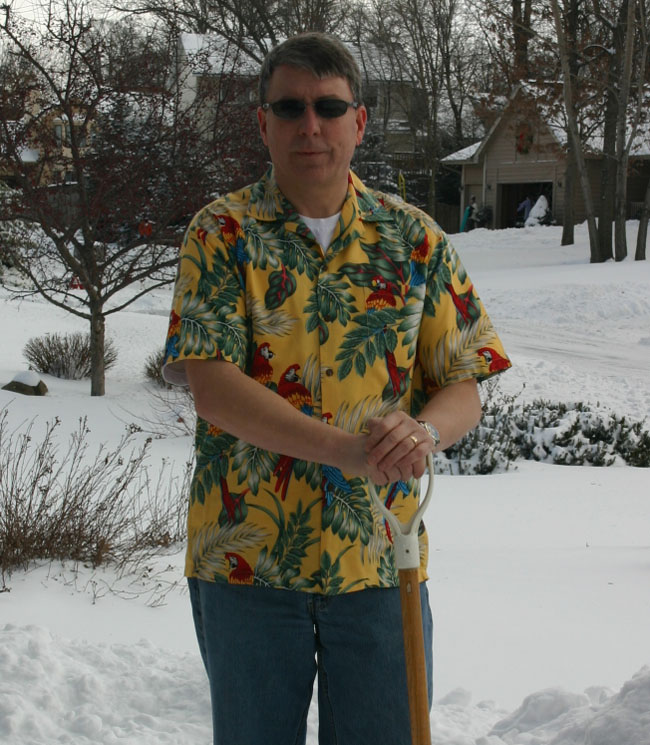 Hawaiian Clothing - Men's Hawaiian Parrot Shirt